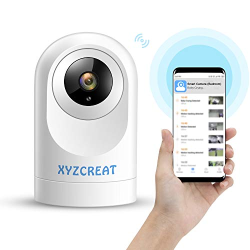 🥇 XYZCREAT 1080p Home Security Camera Wireless Cameras Work with Alexa Smart Home Camera with Motion Detection/Night Vision/2-Way Talk/TF/Cloud Storage