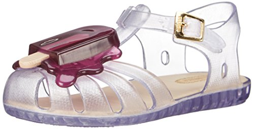 Mini Melissa Aranha Viii Bb Slingback Sandal  Toddler   Clear Purple  7 M Us Toddler