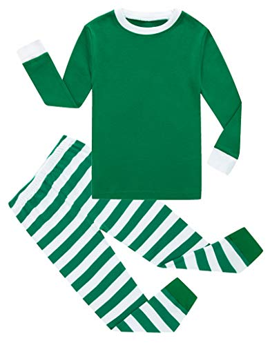 KikizYe Little Girls Boys Christmas Pajamas Sets 100% Cotton Holiday Pyjamas Toddler Kids Pjs Size 4T Striped ()