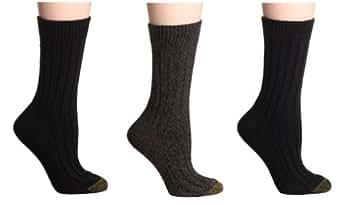 Gold Toe Women's 3-Pack Weekend Sock, Black Assortment 9 ...