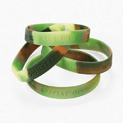 Camouflage Rubber Bracelets Fun Express
