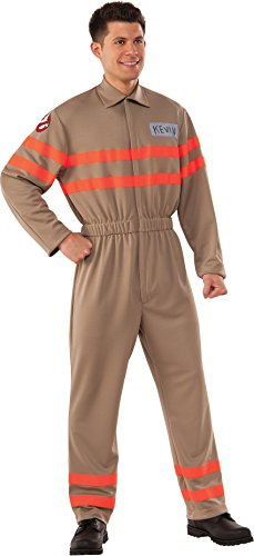 Rubie's Men's Movie Deluxe Kevin Ghostbuster Jumpsuit, As Shown, Standard -