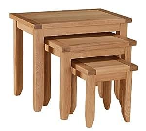 Juego de mesas encajables Stirling Heartlands muebles, madera de roble