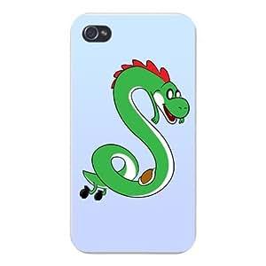 "Apple iPhone Custom Case 4 4S White Plastic Snap On - ""Plumbing Time"