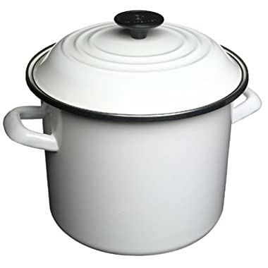Le Creuset Enamel-on-Steel 8-Quart Covered Stockpot, White