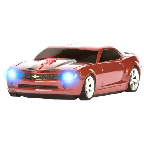 Roadmice Concept Camaro Series Optical Wireless Radio Frequency USB 800 DPI Scroll Wheel Car Mouse, Red/Black