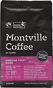 MONTVILLE COFFEE Sunshine Coast Blend Plunger Ground Coffee, 250 g