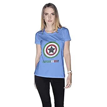 Creo Captain Kuwait T-Shirt For Women - S, Blue