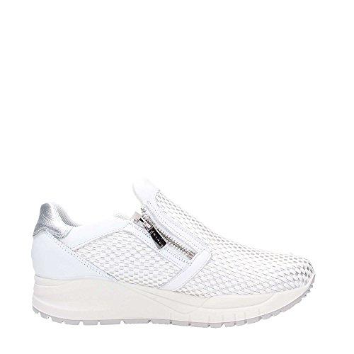 7776 BIANCO/ARGENTO Scarpa donna sneaker Igi&co pelle made in italy Blanco