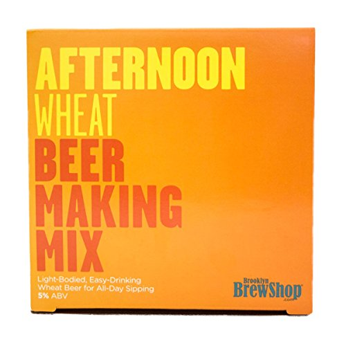 Brooklyn Brew Shop Afternoon Wheat Beer Making Mix: All-Grain Beer Making Mix Including Malted Barley, Hops And Yeast - Perfect For Brewing Craft Beer On Your Stove at Home