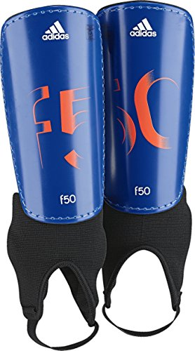 - adidas Performance F50 Youth Shin Guards, Power Blue/Solar Orange/White, Small