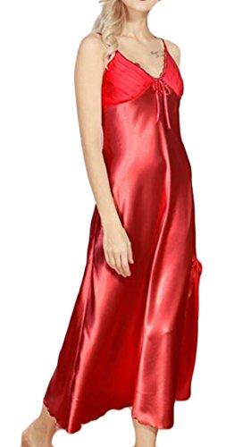 Feritoia Jaycargogo Di Faux Seta Laterali Di Spaghetti Cinghie Womens Vestito Loungewear Estate 3 Maxi PwFdqFE