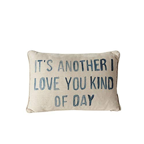 Creative Co-op Another I Love You Kind of Day 20-Textiles - Pillows, Gray by Creative Co-op