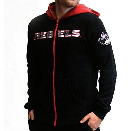 Twin Vision Activewear UNLV Rebels NCAA Men's Full Zip-up Hoodie Jacket (黒) (Large) [並行輸入品]