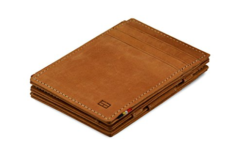 (Garzini Magic Wallet RFID Leather Plus Magistrale (Camel Brown))