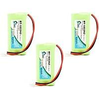 3x Pack - BT-183342 Battery for VTech DS6151, CS6429, CS6114, CS6419-2, CS6519-2, DS6521-2 and AT&T TL86109 Cordless Phones (700mAh, 2.4V, NI-MH)