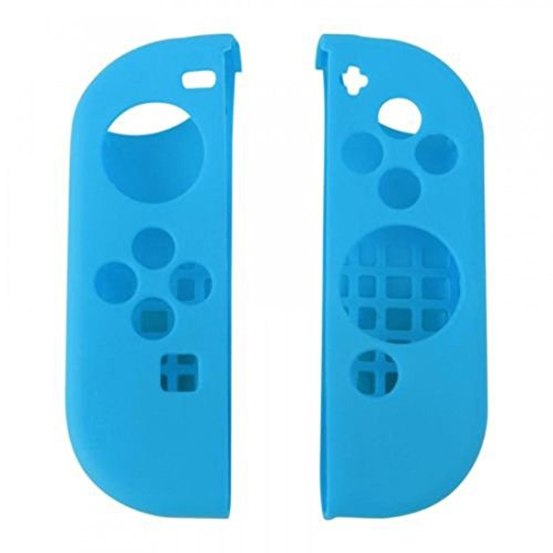 Price comparison product image GBSELL For Nintendo Switch Anti-slip Silicone Cover Skins Case for Joy-Con Controller (Blue)