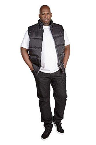 D555 - Manteau sans manche - Veste damassée - Sans Manche - Homme -  noir - XXXXX-Large