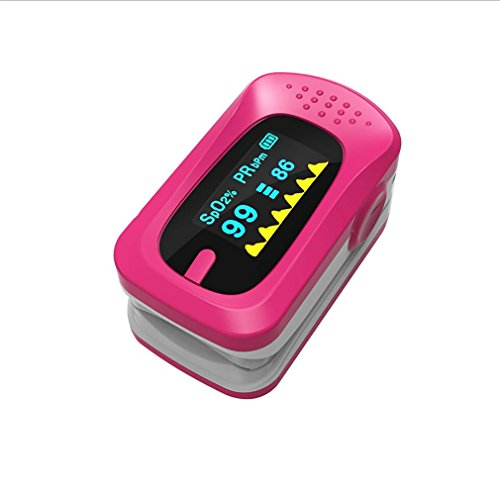 (LPY-Alarm Fingertip Pulse Oximetry, Medical Portable Oxygen Saturation Finger Monitor , pink)