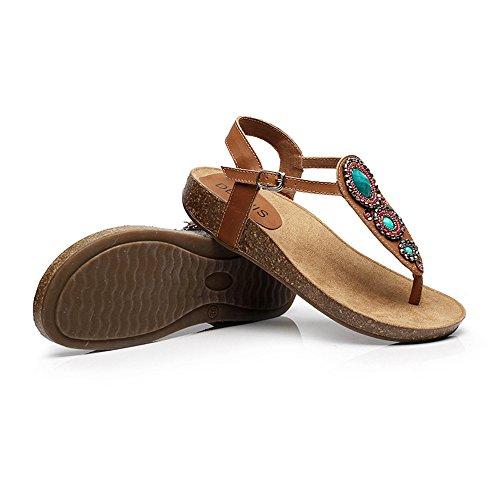 Summer EU39 Size CN39 UK6 custom Sandals Bottom Amazing Female Pinch Shoes Casual Folk Flat HOwvIPOq