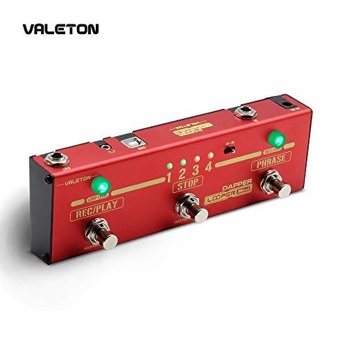 Valeton Looper Guitar Pedal Dapper Looper Mini 3 Footswitch Button Loop Station of 8 USB Savable Loop Memories - Mini Loop Station