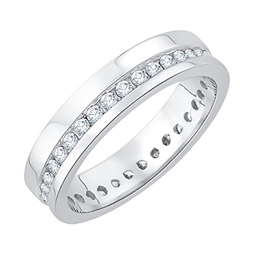 Diamond Eternity Band in Sterling Silver (1/2 cttw) (GH-Color, I2/I3-Clarity) (Size-9.75) by KATARINA