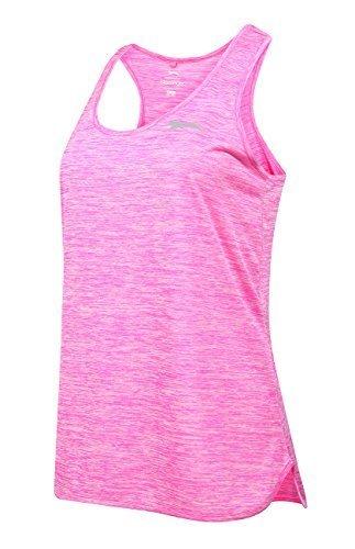 Slazenger Mujer Sin Mangas Espalda Mujer Holgado Top Deporte Activewear 8-16 Rosa