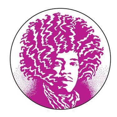 Jimi Hendrix (purple) - PINBACK BUTTON