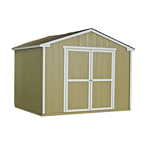 handy home products cumberland wooden storage shed with floor 10 by 8feet