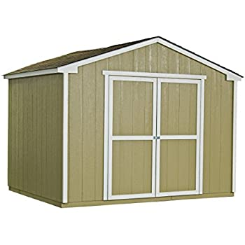Handy Home Products Cumberland Wooden Storage Shed, 10 by 8-Feet