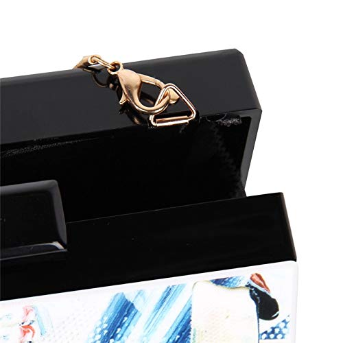 Evening Cretive Lady Acrylic Chic Purse Shoulder Box Fashion Women Female Kllxeb Handbag Bag W0qw8T46xH