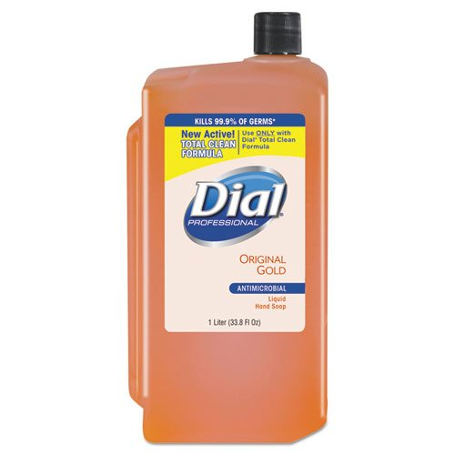 Dial Professional 84019 Gold Antimicrobial Soap, Floral, 1000mL Refill, 8/Carton