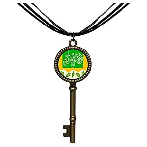 Chicforest Bronze Retro Style Thanksgiving dried corn tractor Jewelry Vintage Key Pendant