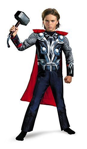 Disguise Boys Marvel Avengers Assemble Thor Classic Muscle Costume, X-Small/3T-4T (Thor Muscle Toddler Costume)