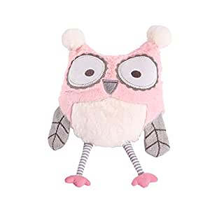 Levtex Baby - Night Owl Pink Stuffed Toy - Plush Owl - Pink, Grey, White - Nursery Accessories