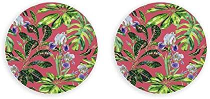 Abrebotellas de cerveza magnético con flor de Iris de primavera Retro romántico, abridor de tapa de botella de nevera con imanes redondos de 2 piezas