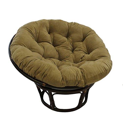 Rattan Papasan Chair with Cushion (Rattan Bowl Chair)