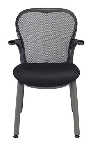 GXO Guest Chair in Black w Mesh Back (Blue) Mystic Guest Chair