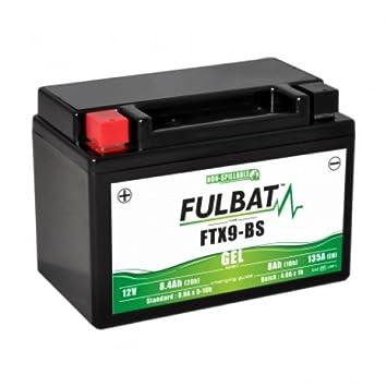 batterie moto 12v 8ah 80a