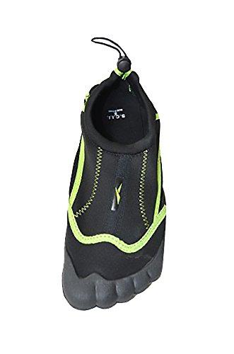 Jeffrey D Water Shoes Women Pool Mesh Beach Swim Aqua Socks (9, Black-C) by Jeffrey D