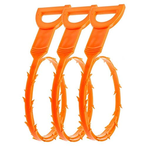 Vastar 3 Pack 19.6 Inch Drain Snake Hair Drain Clog Remover