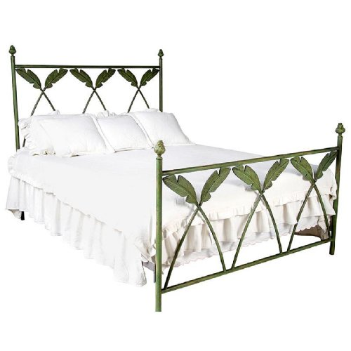 Corsican Iron Bed (Corsican Palm Leaf Bed - Queen)