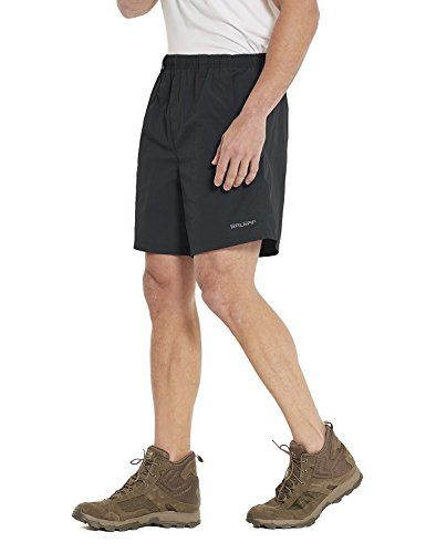 Pocket Liners - Baleaf Men's Zip Pocket Outdoor UPF 50+ Water Shorts Mesh Liner Black Size L
