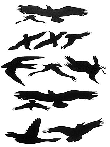 - Window Alert Bird Stickers Silhouettes Glass Door Protection Save Birds, black - by FMJI