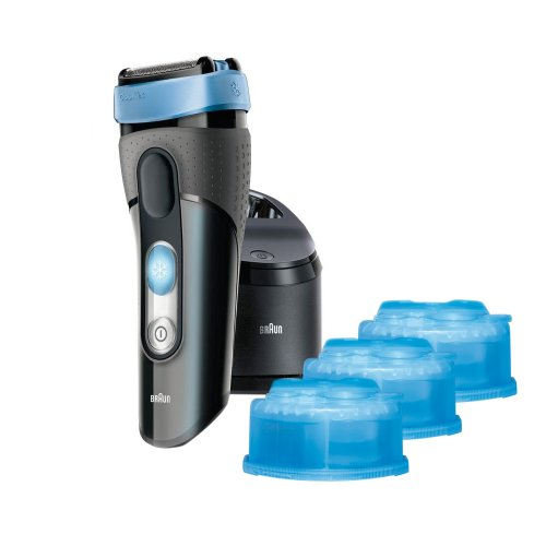 Braun CT2CC Rasierer Cooltec, inklusive Reinigungsstation und 2 gratis Reinigungskartuschen