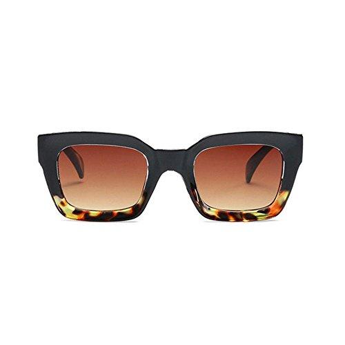 Aoligei Mode image gelée hommes lunettes de soleil rectangulaires tendance européenne lunettes de soleil femmes rondes visage lunettes de soleil B