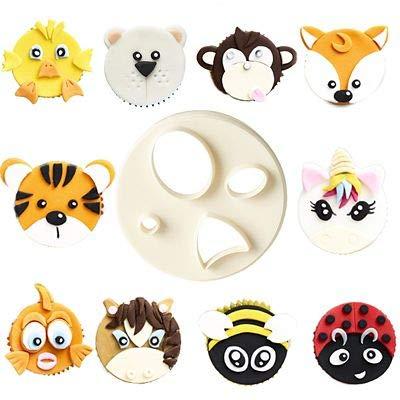 FMM Mix n Match - Cortador de glaseado para cara de animales - Crea cientos de diseños diferentes: Amazon.es: Hogar
