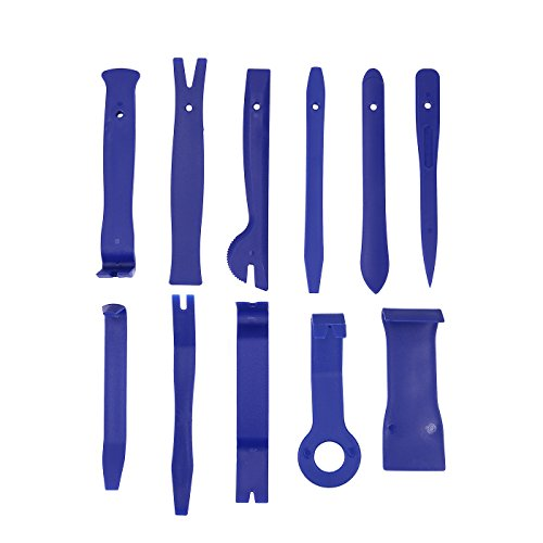 HDE Auto Trim Removal Tool Kit 11pc Set Upholstery, Door Panel, Window Molding Remover by HDE