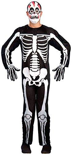 [Forum Novelties Men's Retro Skeleton Costume, Black/White, Standard] (Bones Adult Skeleton Costumes)