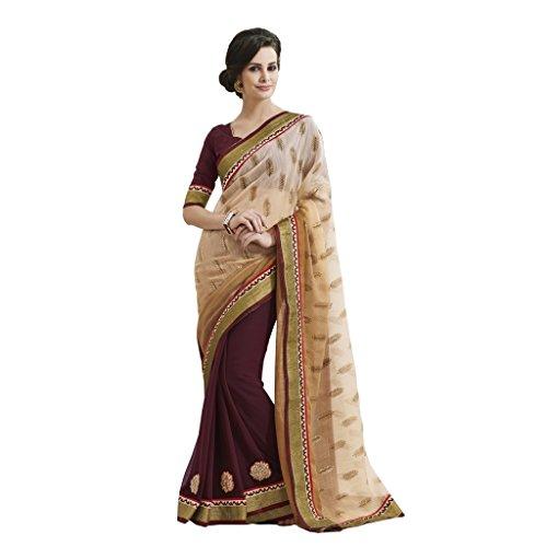 Style Jay Bollywood Saree Party Sarees Wear Bahubali wgA7pqz7S